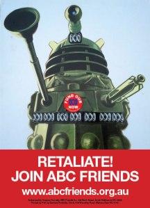 Poster Dalek 'Retaliate' 400x555px